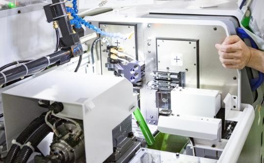 φ1mm以下の加工は、愛工舎の高い技術力が必要です。